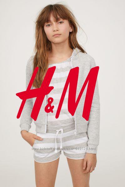 Шорти смугасті для дівчат 8-14 років від H&M Швеція