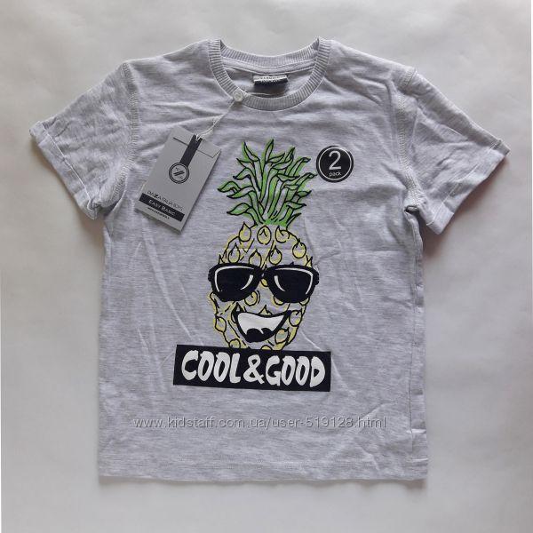 Комплекти з двох футболок для хлопців 3-6 років фірми Piazza Italia Італія