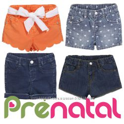 Шорти джинсові для дівчаток 3-18 місяців фірми Prenatal Італія