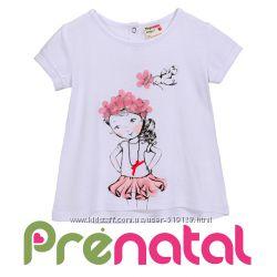Світлі футболки для дівчаток 6-24 місяці фірми Prenatal Італія