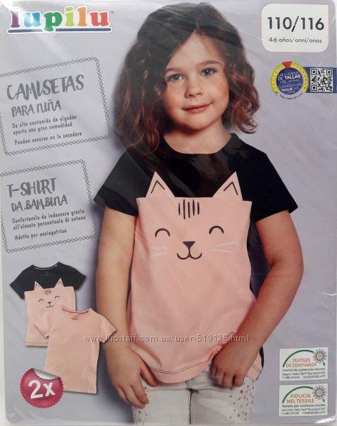 Набори з 2-х футболок для дівчат 2-6 років фірми Lupilu Німеччина