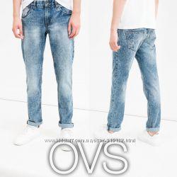 Прямі чоловічі джинси з потертостями S-XL від фірми OVS Італія