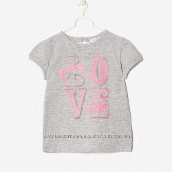 Футболки LOVE для дівчат 1-3 роки фірми OVS Італія