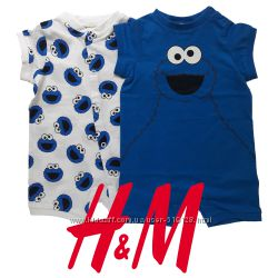 Комплекти ромперів в ассортименті для малюків 1-2 місяці H&M Швеція