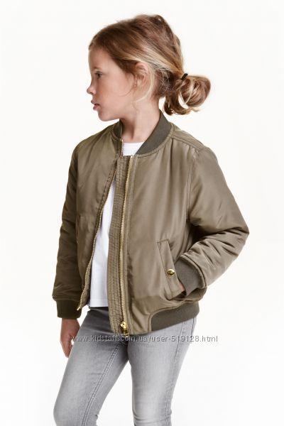 Куртки бомбери для дівчат 2-4 роки фірми H&M Швеція