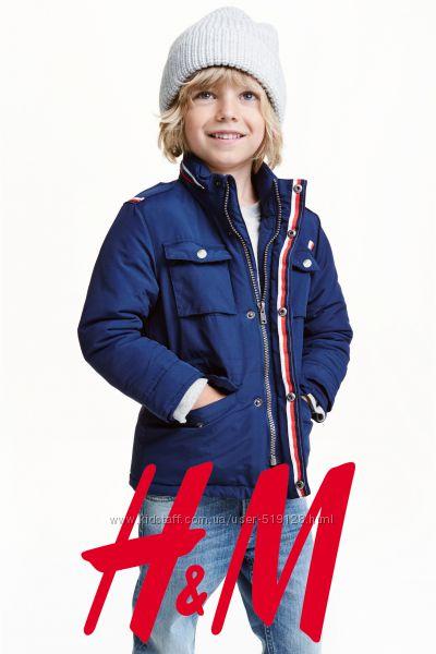 Куртка демісезонна з прихованим капюшоном для хлопців 1-3 роки H&M Швеція