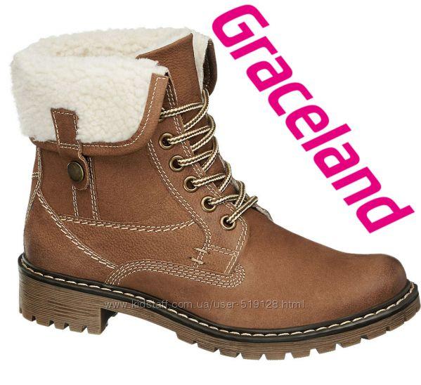 Шкіряні чобітки трансформери для дівчат 32-33р Graceland Німеччина