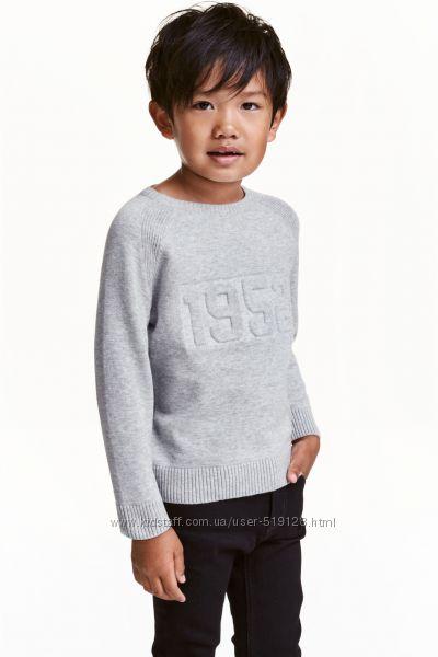 Теплі вязані джемпери для хлопців 1-2 роки від фірми H&M Швеція