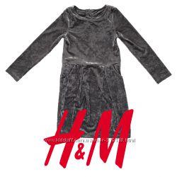 Плаття велюрове з переливом для дівчат 2-10 років фірми H M Швеція ... 1cacfb6e8e264