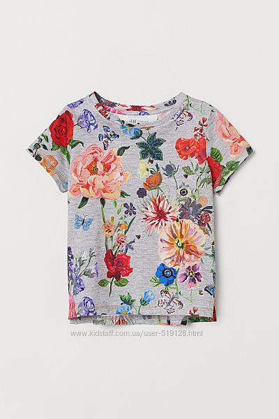 Дизайнерські футболки для дівчат 4-8 років від H&M Швеція