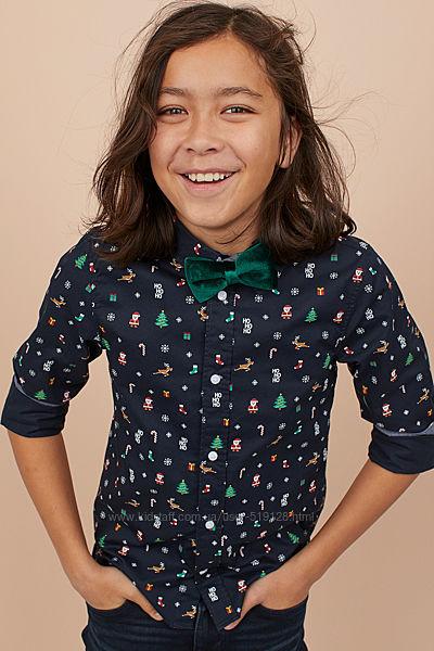 Новорічні сорочки для хлопчиків 14 років від H&M Швеція