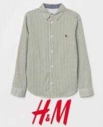 Смугасті сорочки для хлопців 9-15 років від H&M Швеція