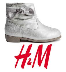 Черевики під замшу для дівчат 24-28 розмір від H&M Швеція