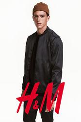 Куртка бомбер для чоловіків розмір S, від H&M Швеція