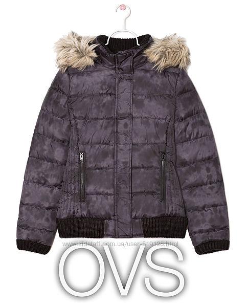 Куртка демісезонна з капюшоном для дівчинки 11-12 років від OVS Італія