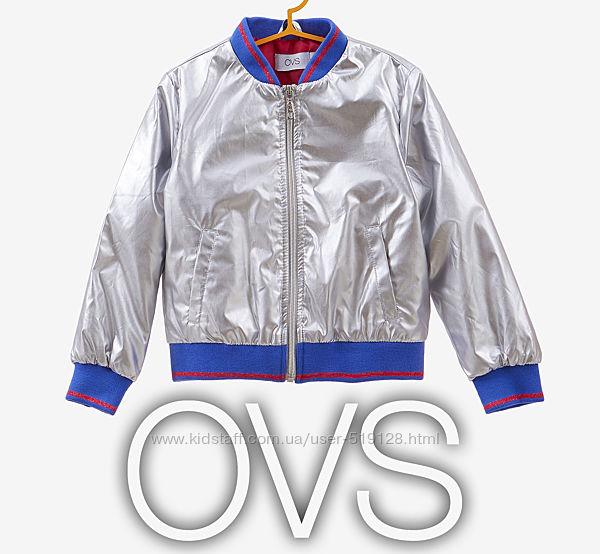 Куртка демісезонна срібляста для дівчинки 8-9 років від OVS Італія