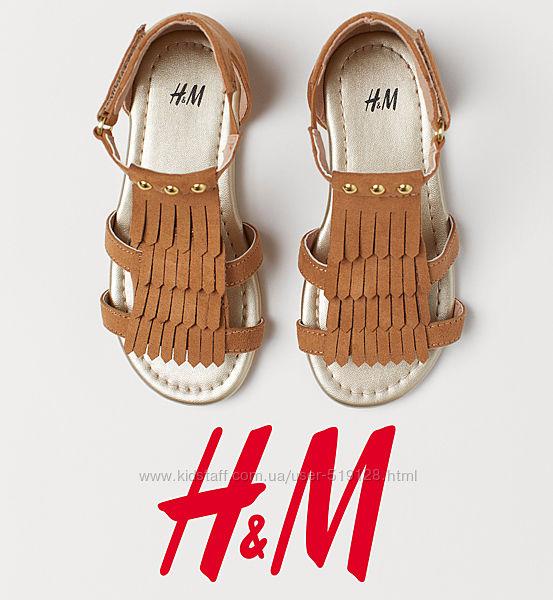 Босоніжки під замшу для дівчат 28-29р від H&M Швеція