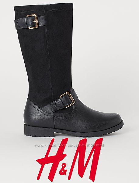 Чобітки демісезонні для дівчат 34-36 розмір від H&M Швеція