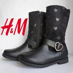 Чобітки демісезонні для дівчат 26-32 розмір від H&M Швеція