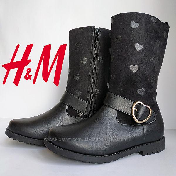 Чобітки демісезонні для дівчат 26-31 розмір від H&M Швеція