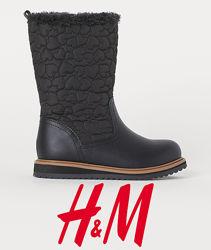 Чобітки єврозима для дівчат 24-32 розмір від H&M Швеція