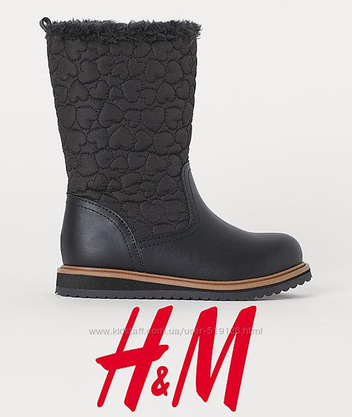 Чобітки єврозима для дівчат 24-28 розмір від H&M Швеція