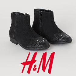 Ботільйони чорні для дівчат 26-31 розмір від H&M Швеція