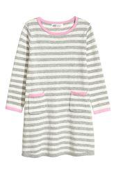 Плаття смугасте тонкої вязки 2-10 років від H&M Швеція