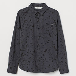 Сорочка з принтом для хлопців 11-14 років від H&M Швеція