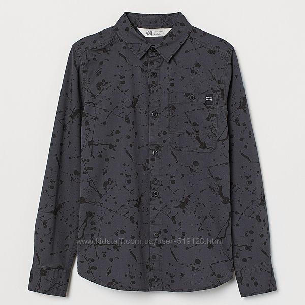 Сорочка з принтом для хлопців 11-13 років від H&M Швеція