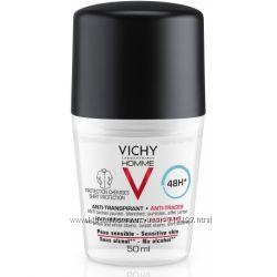 Vichy Homme дезодорант антиперспирант от пятен мужской Виши deo Deodorants