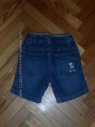 Джинсовые шорты George на 9-12 мес рост 74-80