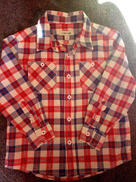Рубашка 116 р. СНЕROKEE новая