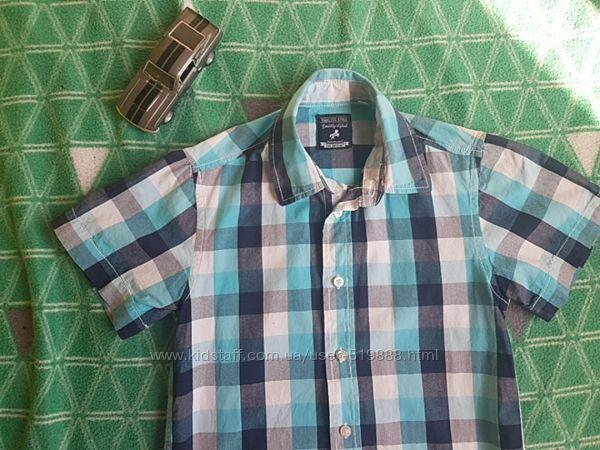 Рубашка с коротким рукавом ,110-116 р