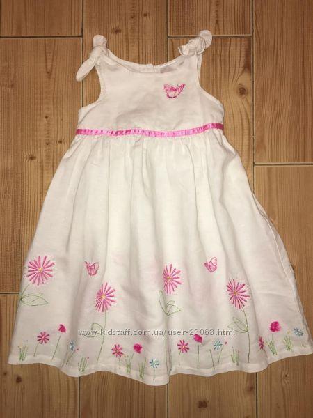 Летнее льняное платье LADYBIRD - 2-3-4 года