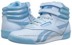 Кожаные высокие кроссовки Reebok Freestyle Hi - длина стельки 21, 5 см
