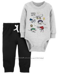 Набор CARTER&acuteS - бодик и штаны - размер 12 мес - рост 72-76 см