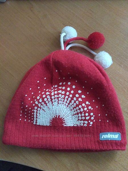 Зимняя шапка Рейма Reima 50 шерсть на флисе р. 52