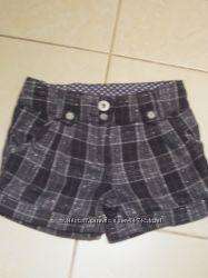Тёплые шорты Некст Next для девочки, 8-9 лет, рост 128.