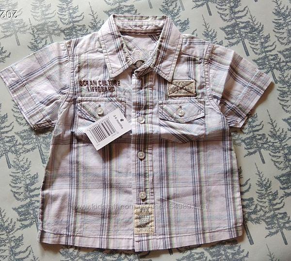 Летняя лёгкая рубашечка малышу. Размер 3-6 мес. Фирма Matalan