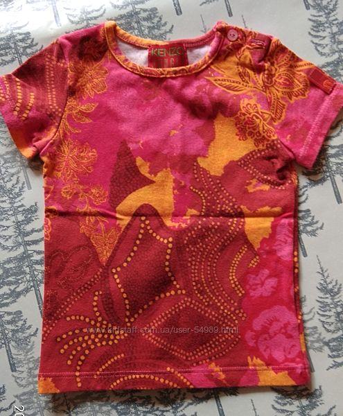 Красивая футболка для девочки. Размер 12 мес. Фирма Kenzo Jungle.