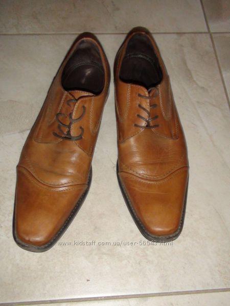 кожаные туфли с сайта Кунда - обуты 1 раз