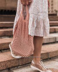 Плетеная сумка, авоська, пляжная сумка, вязаная авоська