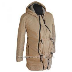Новая демисезонная куртка для беременных бежевая