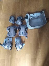 Ролики Rollerblade 43 рр и полный комплект защиты в фирменной сумке.