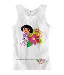 летние футболки , майки для  девочек от H&M, C&A