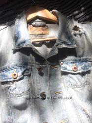Стильный джинсовый жилет Fishbone размер м