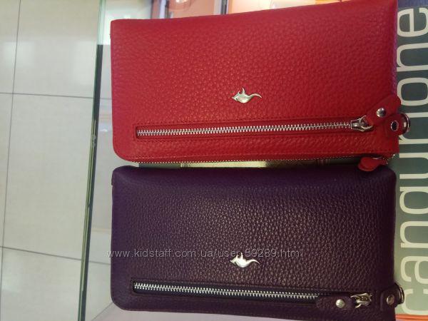 Кожаный женский кошелёк CANGURIONE 2203