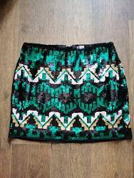 Крутая юбка в паетки H&M 10 разм