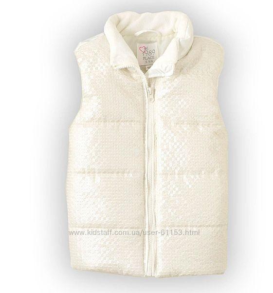 Белая жилетка на осень для девочки